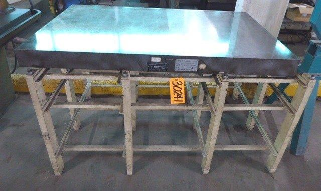 36″ x 60″ x 4″ Thick, CHALLENGE Surface Plate, Cast Iron, Factory Stand