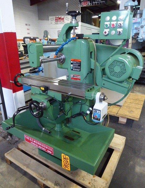 No. 2 U.S. Burke/Morrison Horizontal Mill, 50-2370 RPM, 8″ x 32″ P.F. Tbl., 2 HP, Coolant, Factory Rebuilt