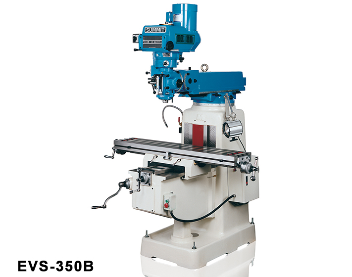 "SUMMIT CNC Vertical Mill SmartCut EVS-350B, 3-Axis, 3 HP V-Speed 0-4300 RPM, 10"" x 50"" Table R-8, Fagor 8055MC, Coolant, New"