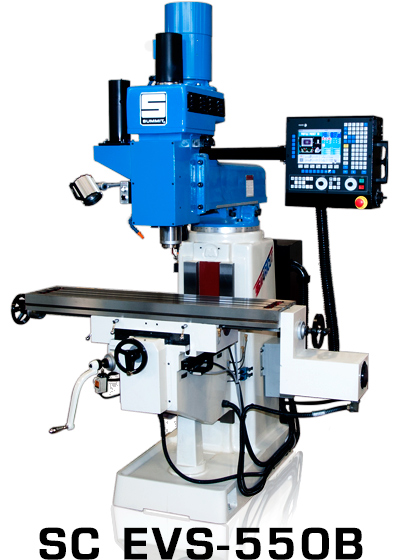 "SUMMIT SmartCut EVS 550B, 3-Axis, 5 HP V-Speed 70-3800 RPM, 11"" x 52"" Tbl, 40 Tpr, Box Ways, Coolant, Fagor 8055MC Control, New"