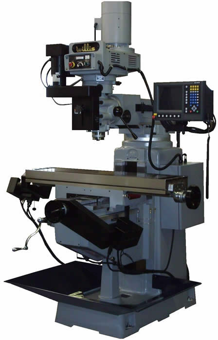 Willis 1250II-3MP, 5 HP, 60-4200 RPM, 12″ x 50″ Tbl, 40 Tpr, Box Ways, Acu-Rite CNC Control, New