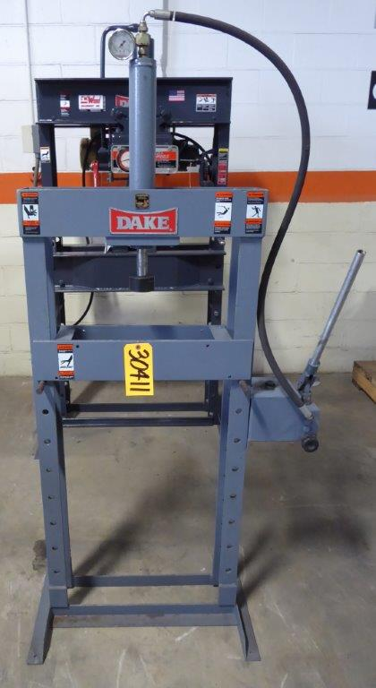 10 Ton DAKE Force 10M, H-Frame, Manual, 20″ B.H., 1997