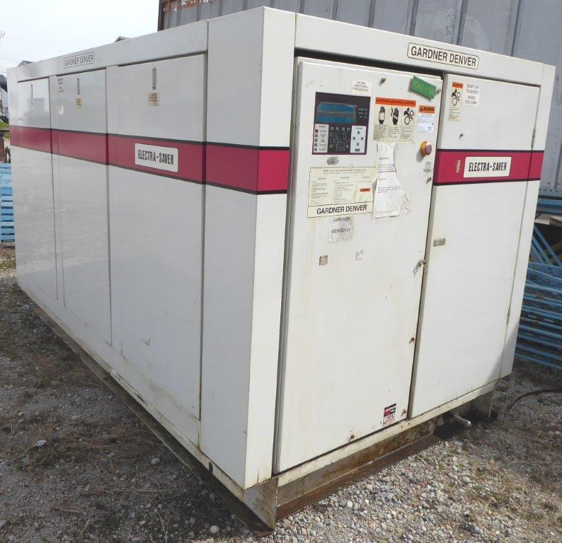125 PSI, GARDNER DENVER No. EAUSQG, 250 HP, Enclosed, 1997, As-Is For Parts or Rebuild