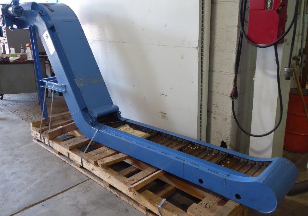 """Chip Conveyor: Tsubakimoto-Mayfran, No. D60W12ST-DN, 12"""" Wide, 140"""" Long, 60"""" High"""