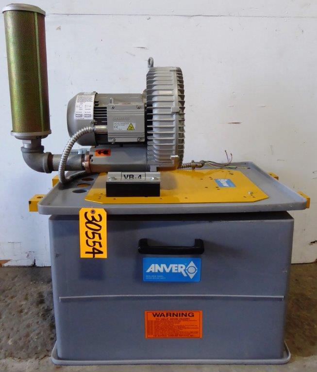 Anver Vacuum Generator/Pump No. VB-4HF, 4 HP, Sound Enclosure, Exhaust Muffler, Nice