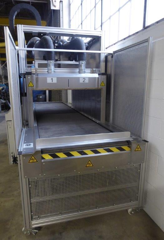HAPRO, 600 Deg F, 37″ Wide Stainless Conveyor, Siemens PLC, 2017, Excellent