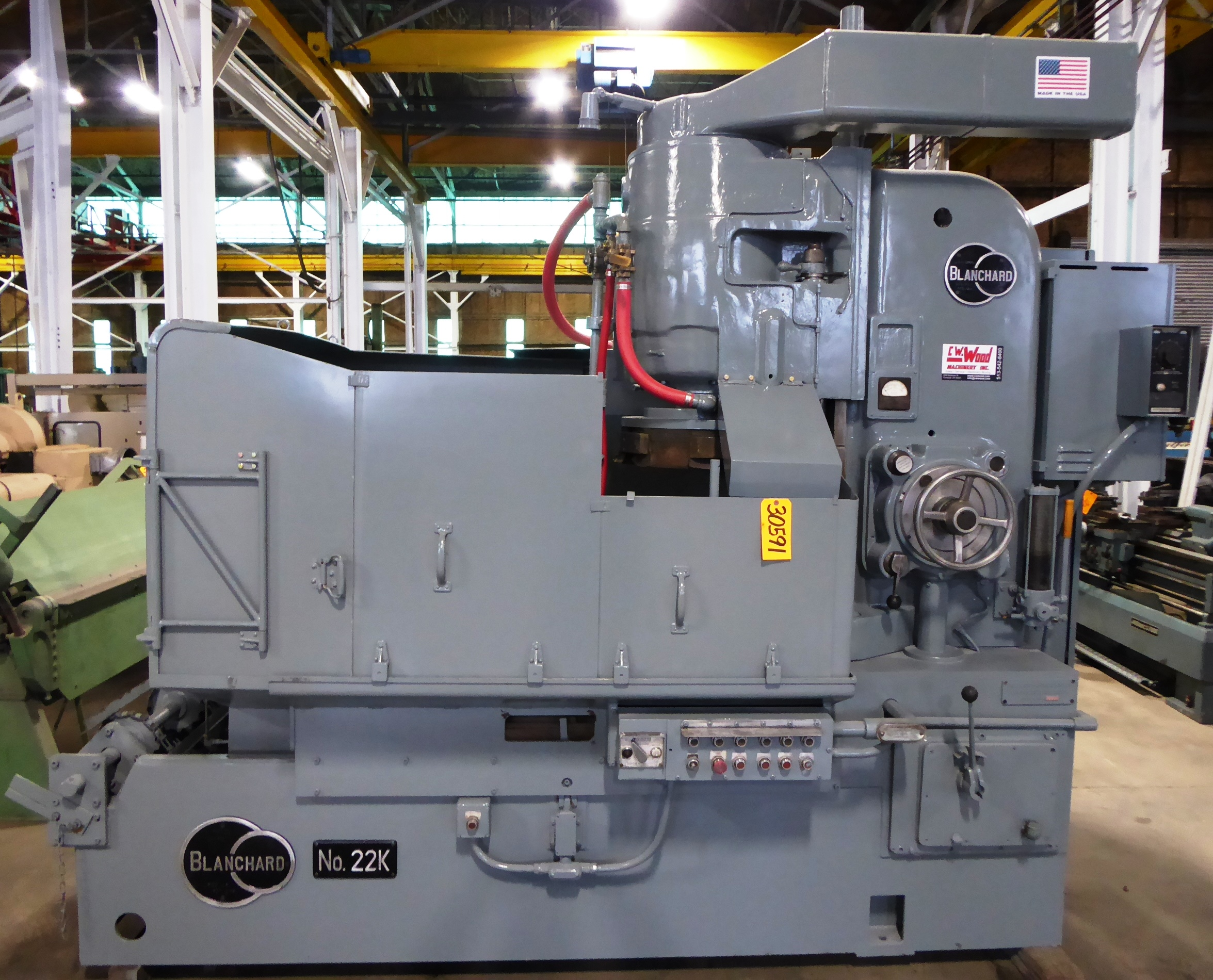 42″ BLANCHARD Rotary Surface Grinder No. 22K-42, Seg. Wheel, 50 HP, 20″ Under Wheel, Clean
