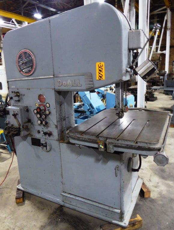 "26"" DoAll Vertical Band Saw No. 26-3, 55-10,000 FPM, 32"" x 41"" Tbl., Hyd. Table Feed, 7-1/2 HP"