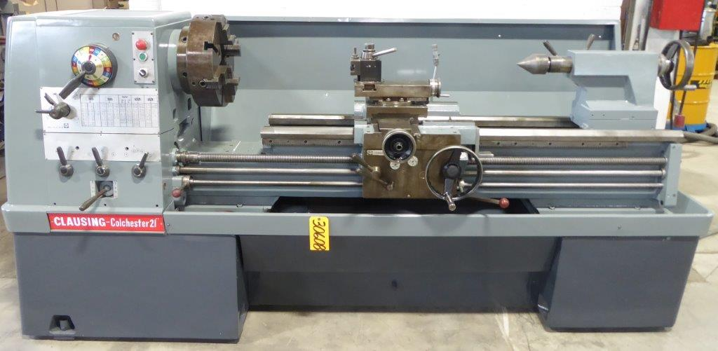21″/32″ x 60″ Clausing Colchester Gap Bed Engine Lathe, Inch/mm, 3.5″ Hole, 12 HP, Clean