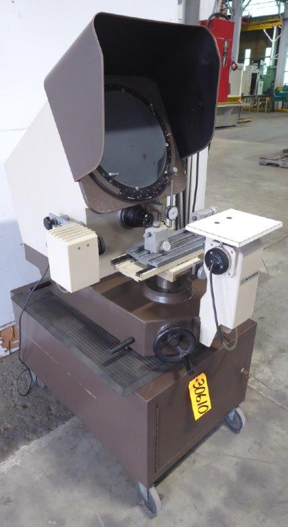 14″ Mitutoyo Optical Comparator No. PH-350H, Horiz., Bench Model w/Stand, Surface Illumination, Nice
