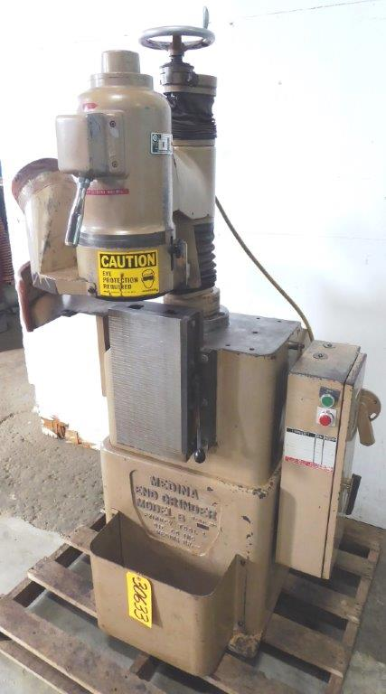Medina Model B End Grinder, 7″ Diameter Wheel, 8″ x 15″ Walker Perm. Mag Chuck, 2-1/2 HP, Nice