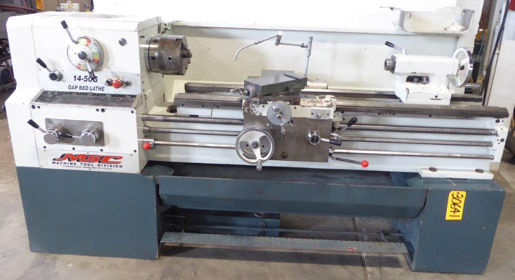 14″/22″ x 50″ MSC Gap Bed Lathe, Inch/mm, 22-1800 RPM, 7-1/2 7-1/2 HP