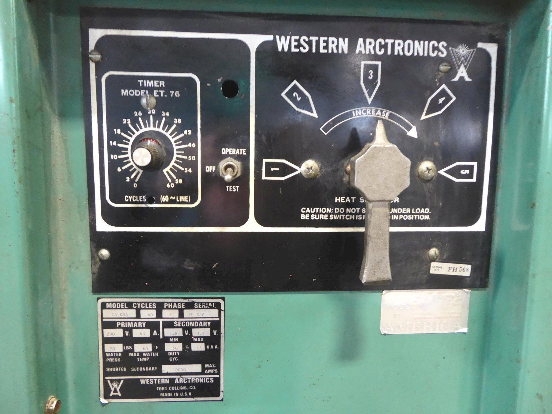 "15 KVA Western Arctronics, Rocker Arm, 24"" Throat, 1 Phase"