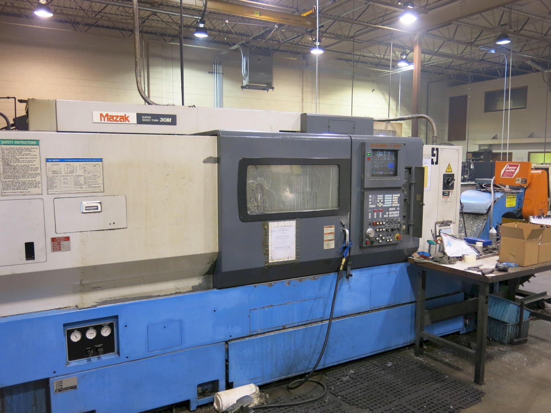 "Mazak Super Quick Turn 30M CNC Lathe, 12"" 3-Jaw Chuck, (Live Milling)  11 Positions Turret, Tailstock, 30 HP, New 1995"