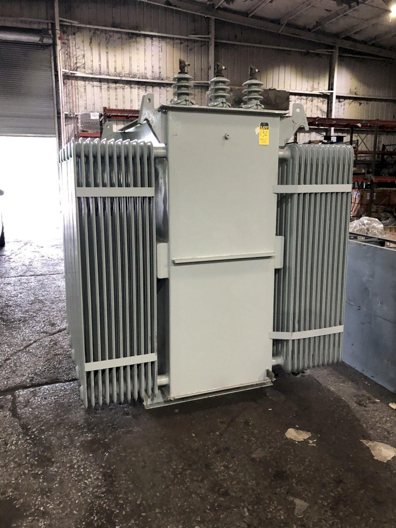 ELECTRIC SUPPLY REBUILT FURNACE TRANSFORMER 2240 KVA, 13,800 DELTA PRIMARY VOLTS, 1350Y/779 SECONDARY VOLTS, 3 PHASE, 60 HZ., 5 HIGH SIDE TAPS FROM 14490 TO 13110, 6.1 IMP., S/N 170825-21, 12,200 #