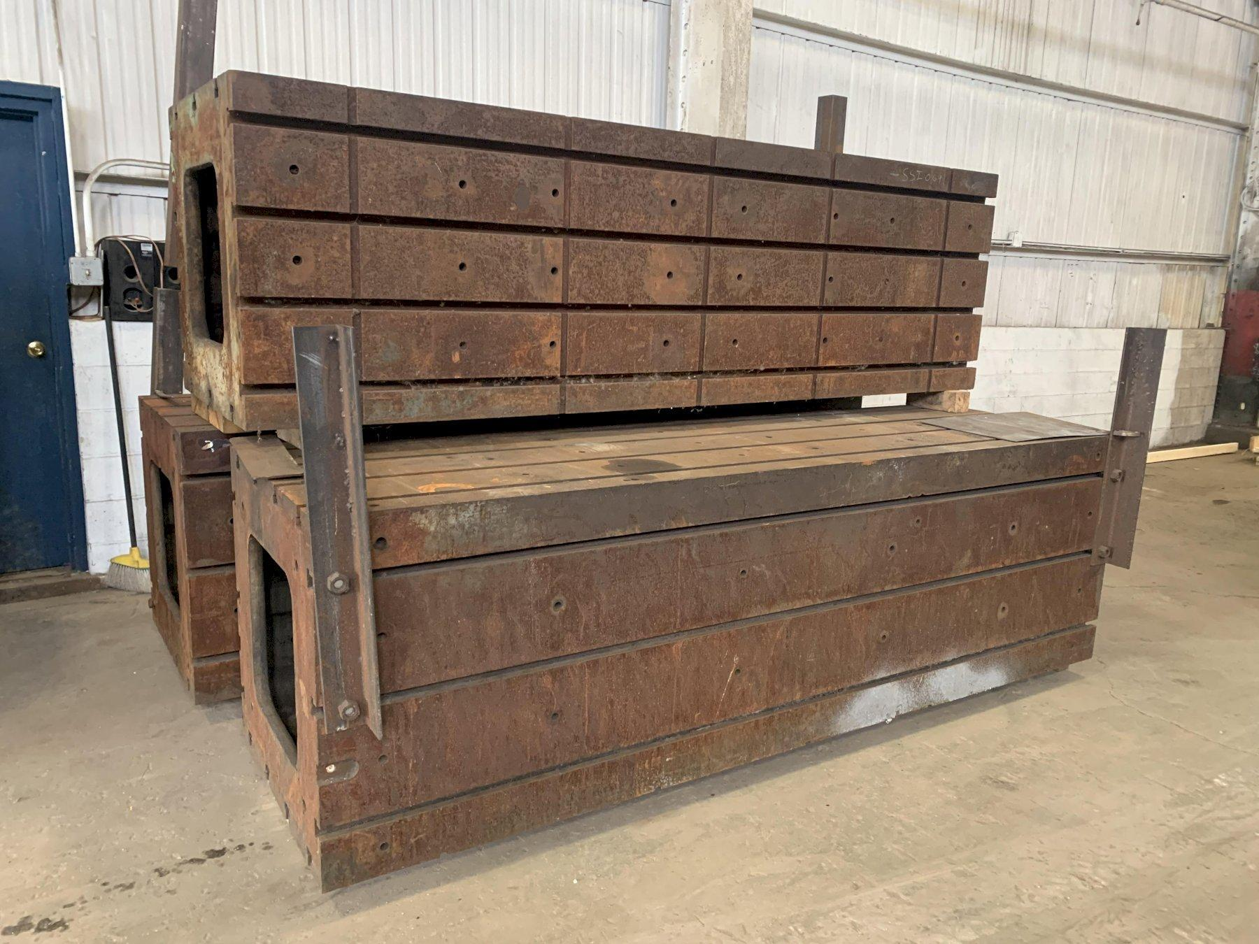 """120"""" X 36"""" X 36"""" HIGH T-SLOTTED HEAVY DUTY TABLE / RISER: STOCK #12305"""