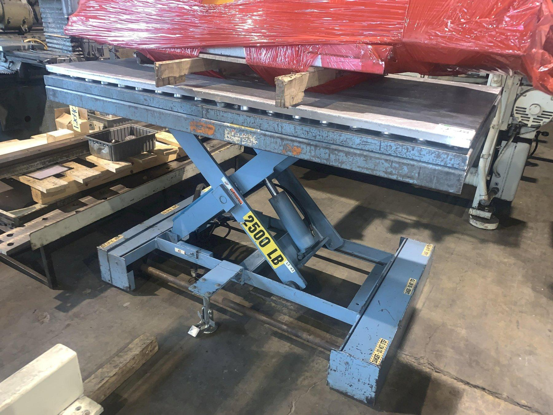 2500 LBS X 4' X 6' HYDRAULIC SCISSOR LIFT TABLE: STOCK #2150