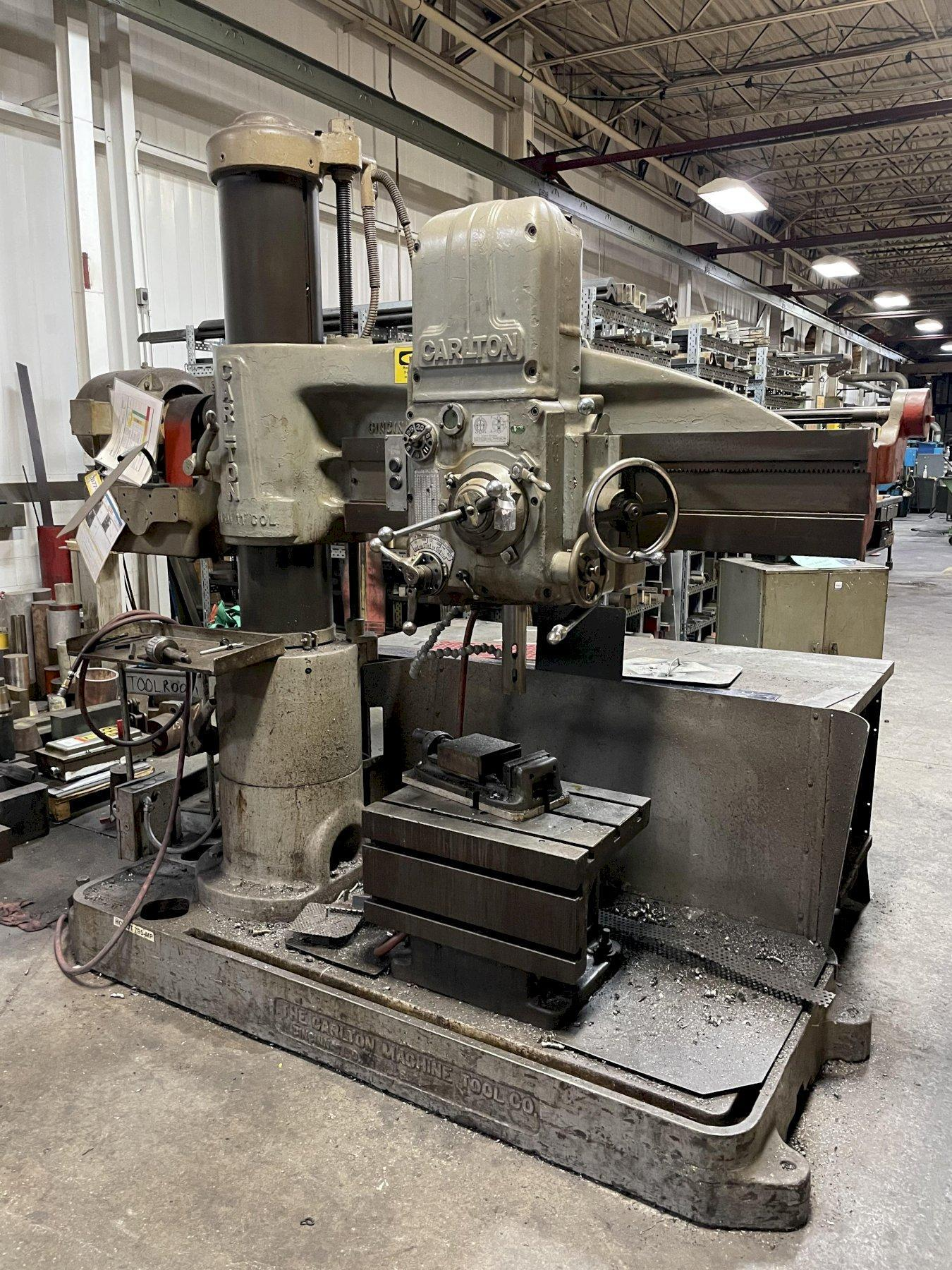 "4' X 11"" CARLTON RADIAL ARM DRILL: STOCK #14451"