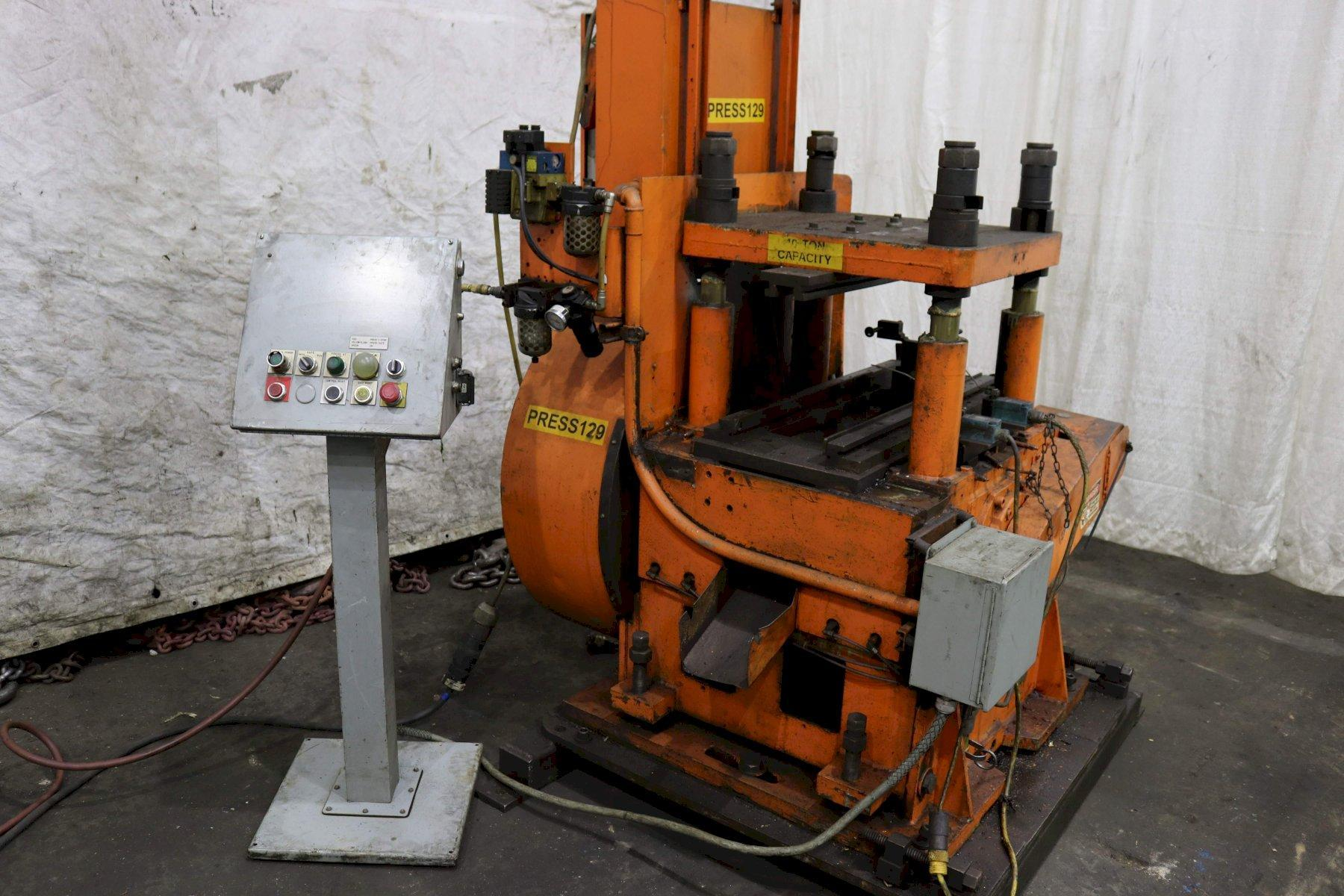 40 TON TISHKEN CUTOFF PRESS: STOCK #73634