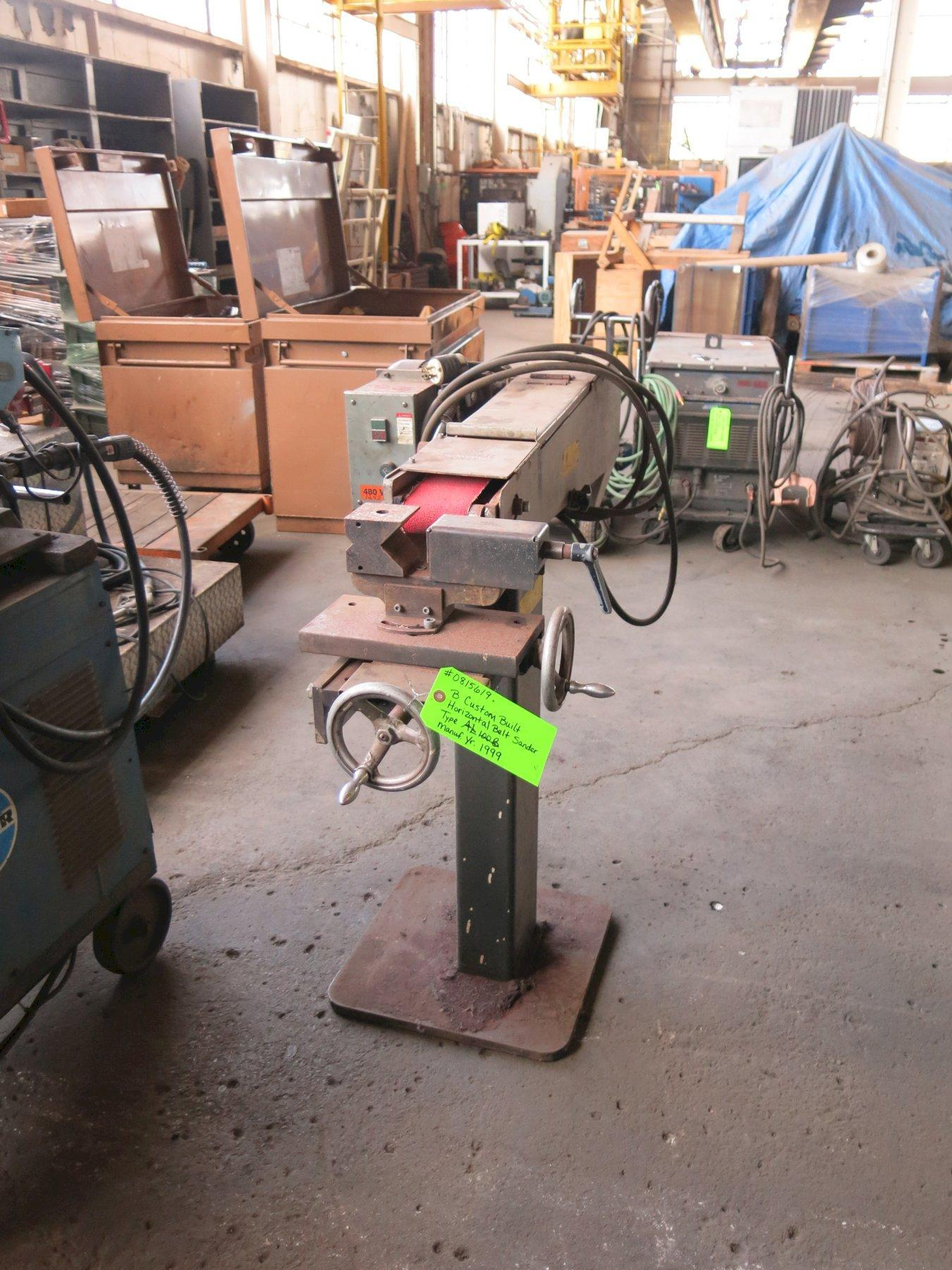 Custom Built Horizontal Belt Sander