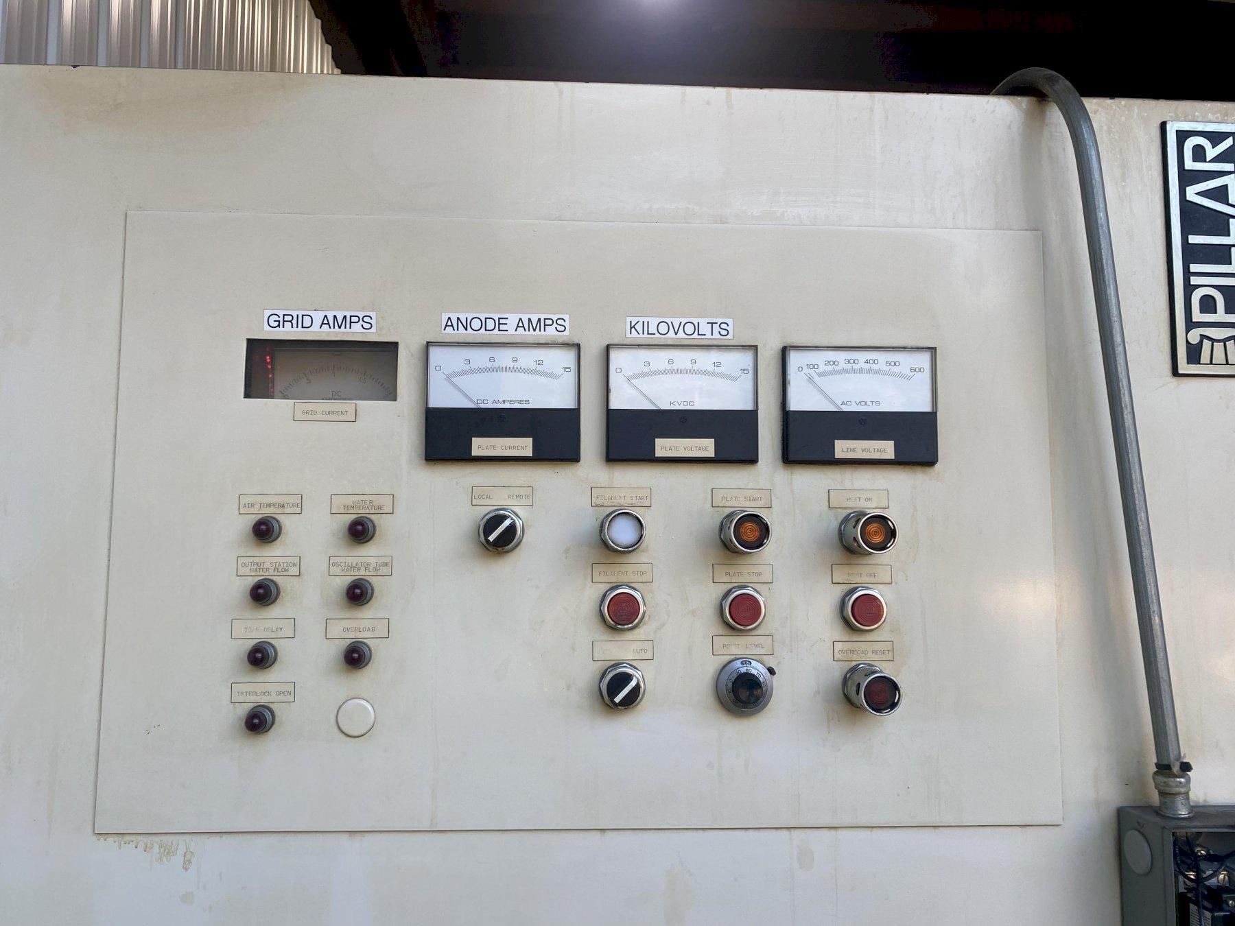 50 kw PILLAR INDUSTRIES MODEL CE-500 INDUCTION FURNACE & POWER SUPPLY: STOCK #15400