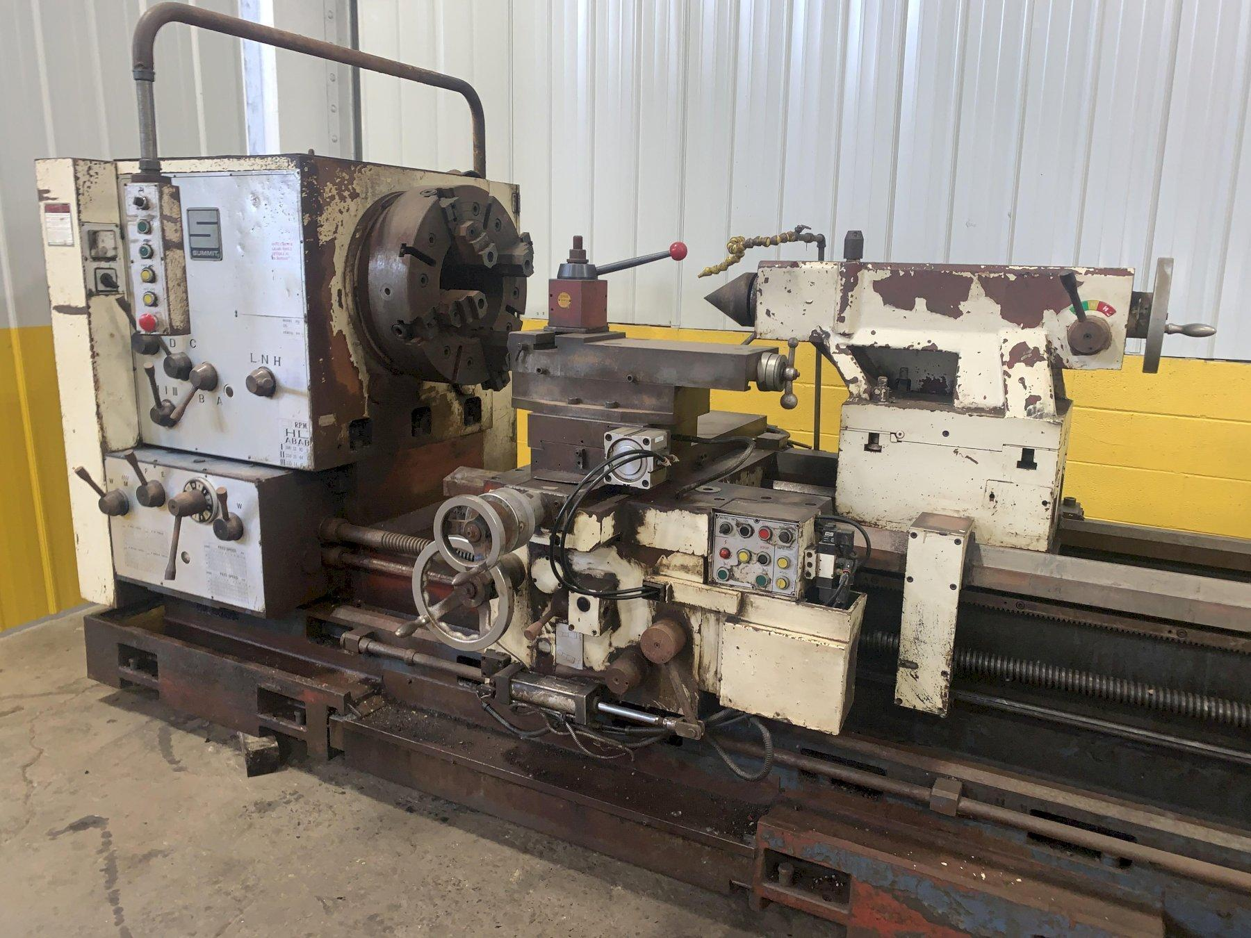 "42"" X 120"" SUMMIT MODEL 42-12X120 12"" HOLLOW SPINDLE ENGINE LATHE"