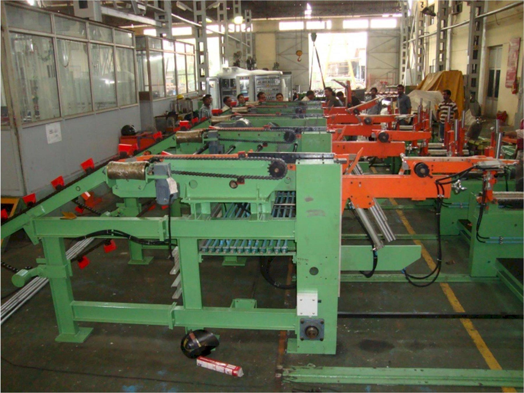 """1-1/2"""" to 6"""" Automatic Tube Bundling Machine with Automatic Strapping Unit and Magnetic Pick and Place NEW"""
