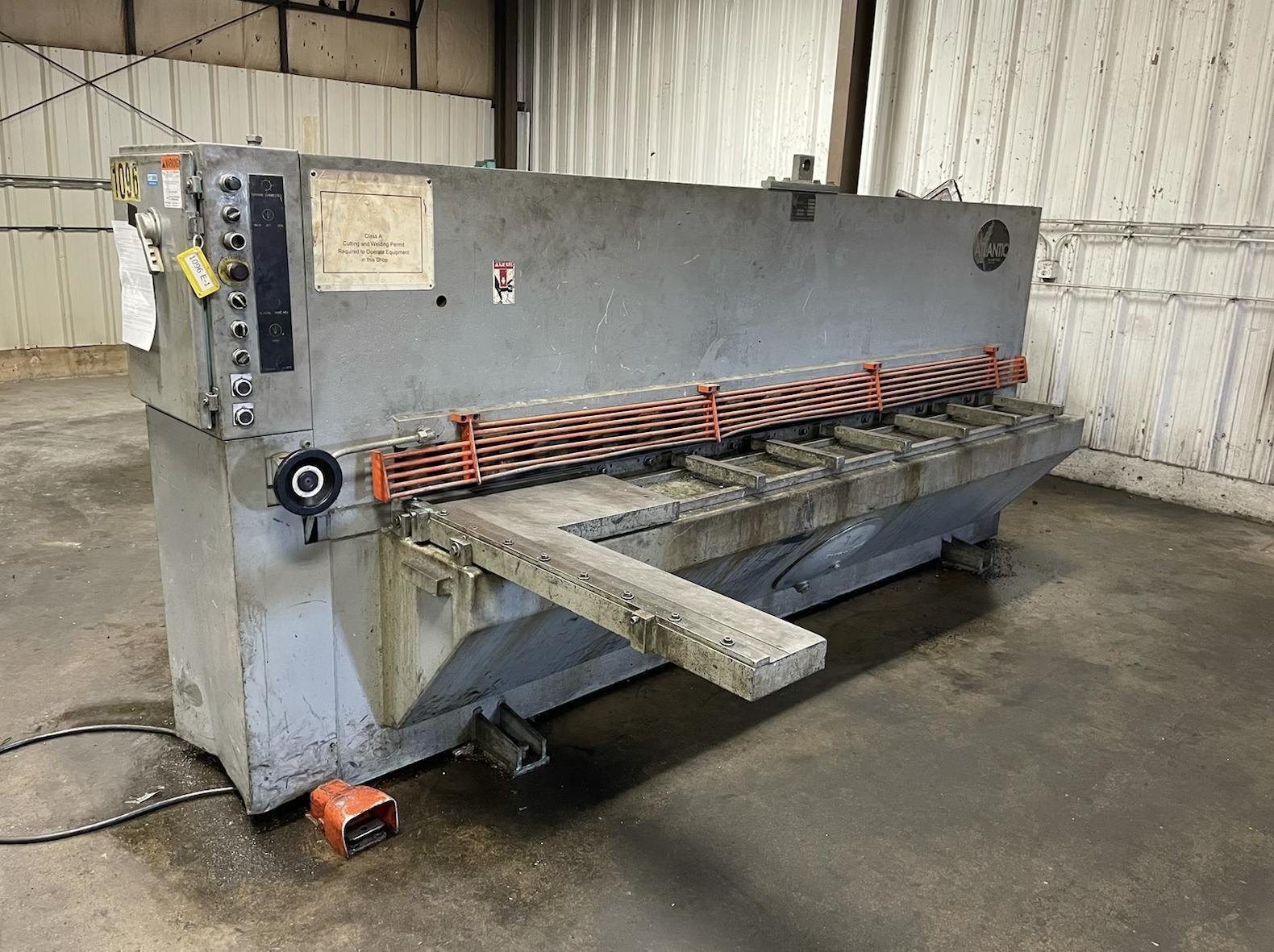 """10' x 1/4"""" Atlantic CostCutter Hydraulic Shear"""
