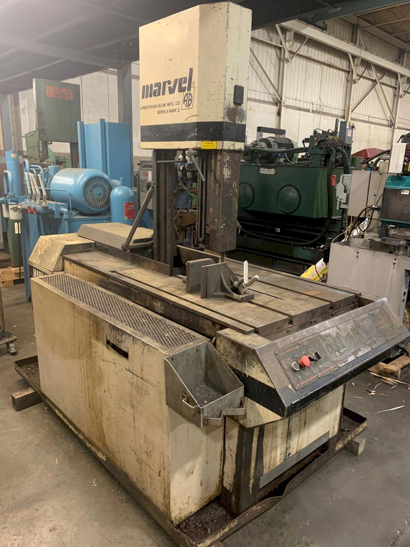 """USED MARVEL VERTICAL BANDSAW MODEL 8 Mark II, 18"""" x 22"""", Stock No. 10666, YEAR 1990"""