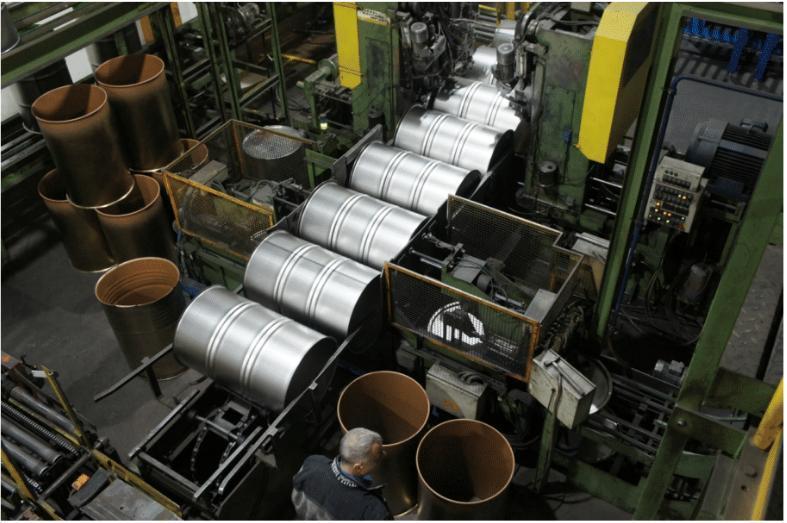 Complete Steel Drum Forming Line with Welder