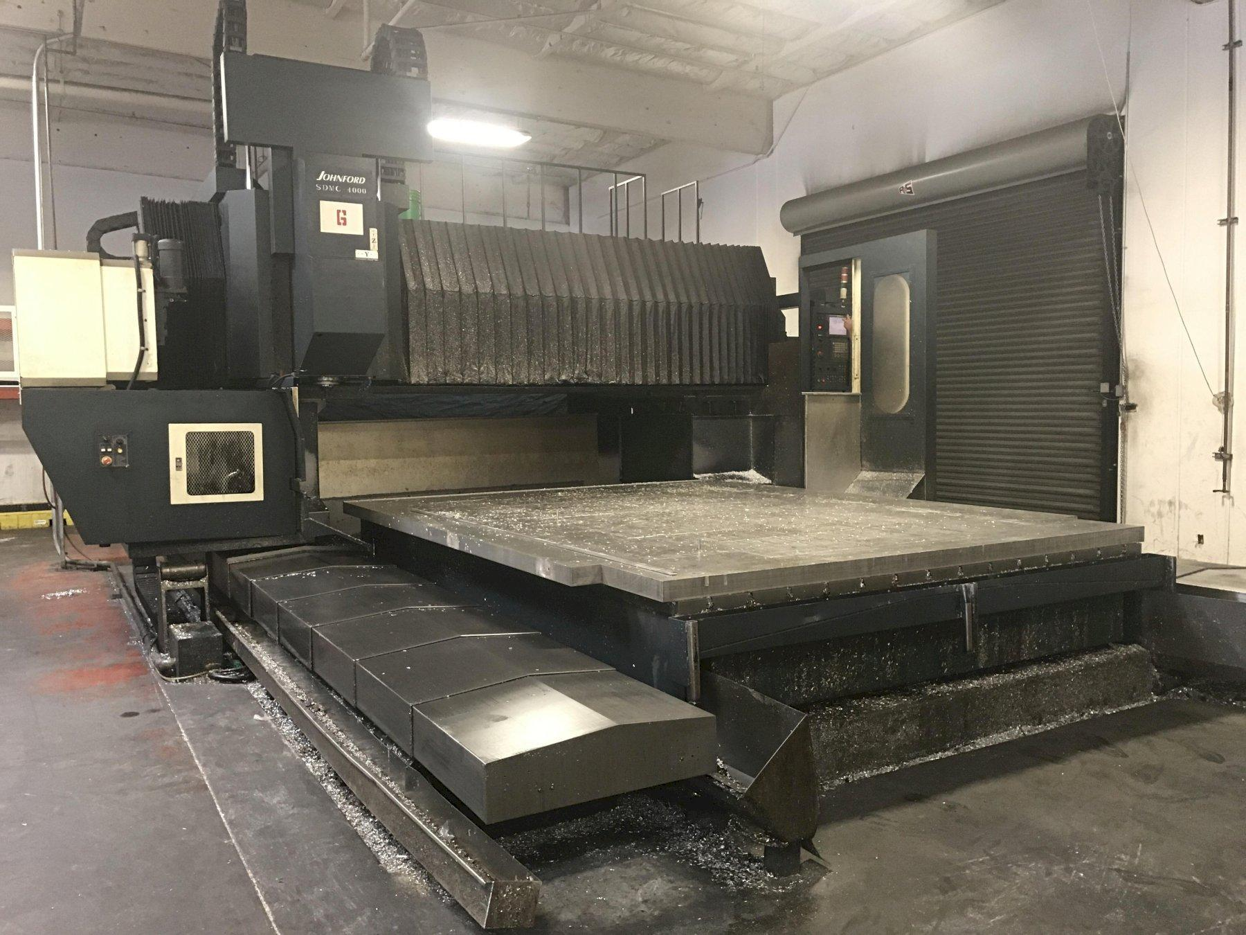 Johnford SDMC4000/3500 CNC Bridge-Style Vertical Machining Center, Fanuc 18iMB, 161