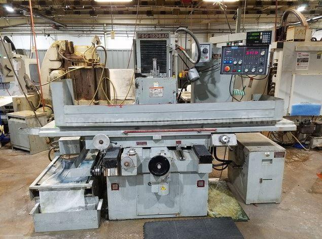 "12"" X 36"" CHEVALIER MODEL FSG-1236AD HORIZONTAL SURFACE GRINDER: STOCK #14050"