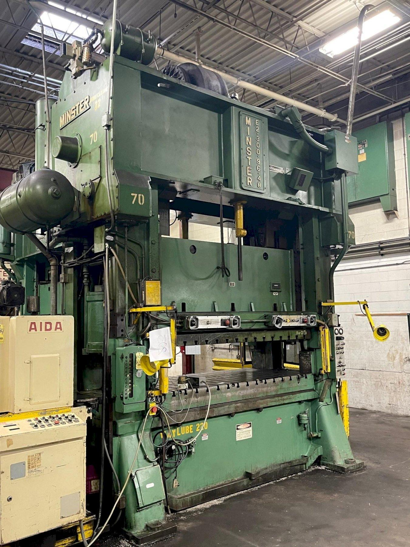 300 ton Minster E2-300-96-48 Hevi-stamper, Mechanical Press New 1983