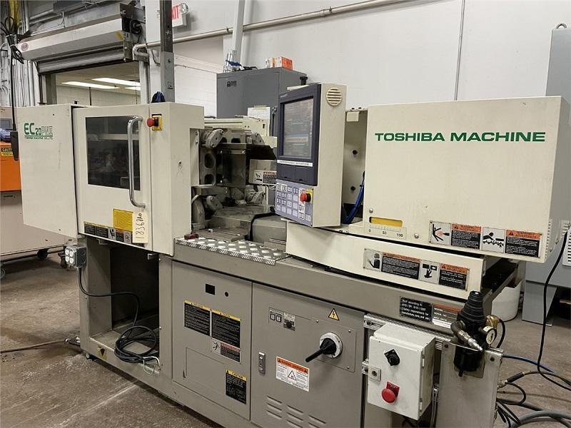 Toshiba Used EC20PNIIV30-0.4B Injection Molding Machine, 22 US ton, Yr. 2009, 0.71 oz.