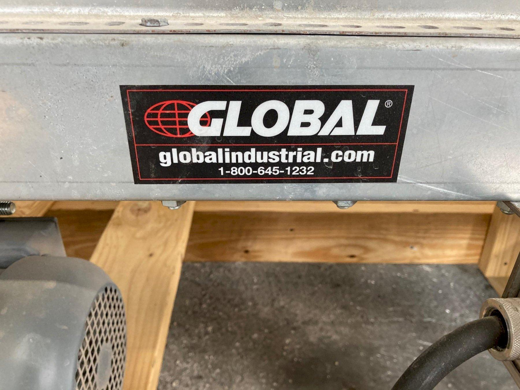 """Global Industrial 20' x 12"""" Powered Belt Conveyor with Side Rails"""