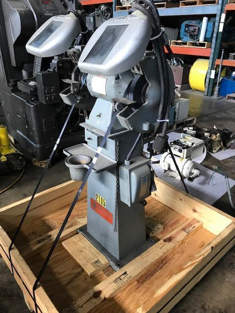 SETCO 1 HP DOUBLE END PEDESTAL GRINDER with Guards, 3 Phase, Model 101.