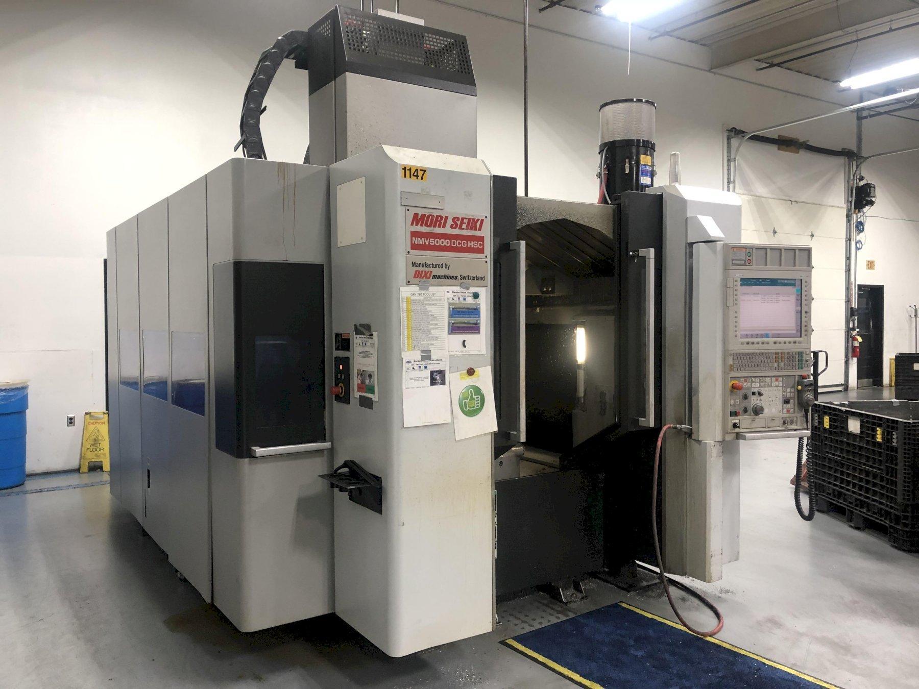 Mori Seiki NMV5000 DCG 5-Axis CNC Vertical Machining Center, MSX-711 IV (Fanuc 31i-A5), 19.7