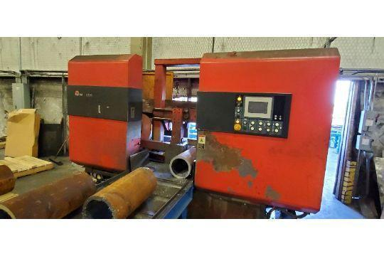 "USED AMADA 20"" DUAL COLUMN FULLY AUTOMATIC HORIZONTAL BANDSAW MODEL DYNASAW 530, Stock # 10770, Year 2013"