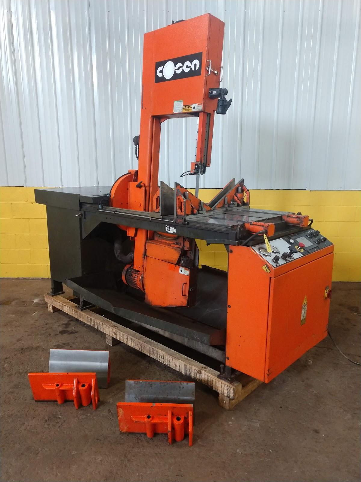 "18"" X 25"" COSEN MODEL #SVC670DM VERTICAL BAND SAW: STOCK #13020"