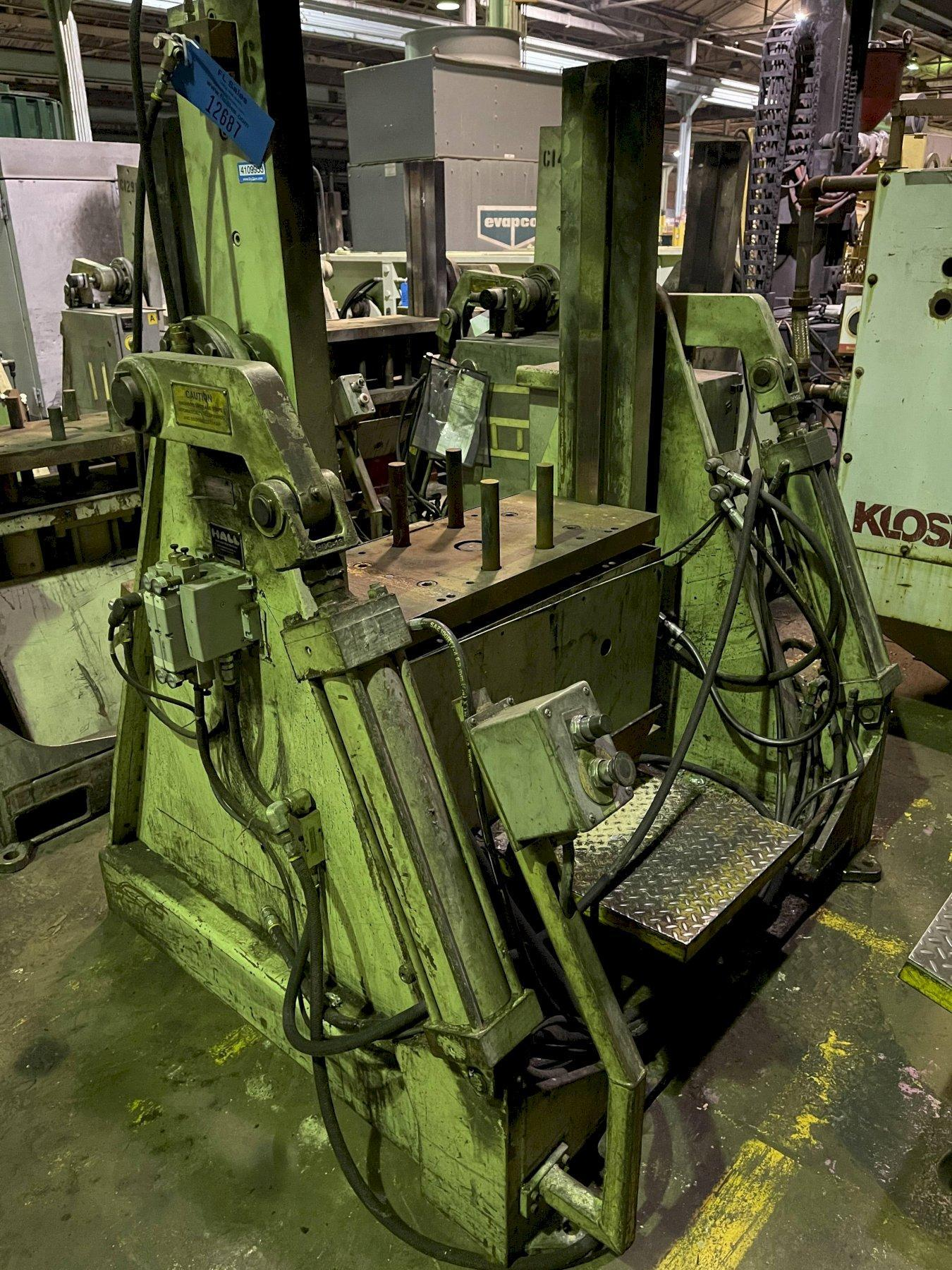 """Hall model RT3 permenant molding machine with controls s/n 6714, 33"""" x 20"""" platen"""