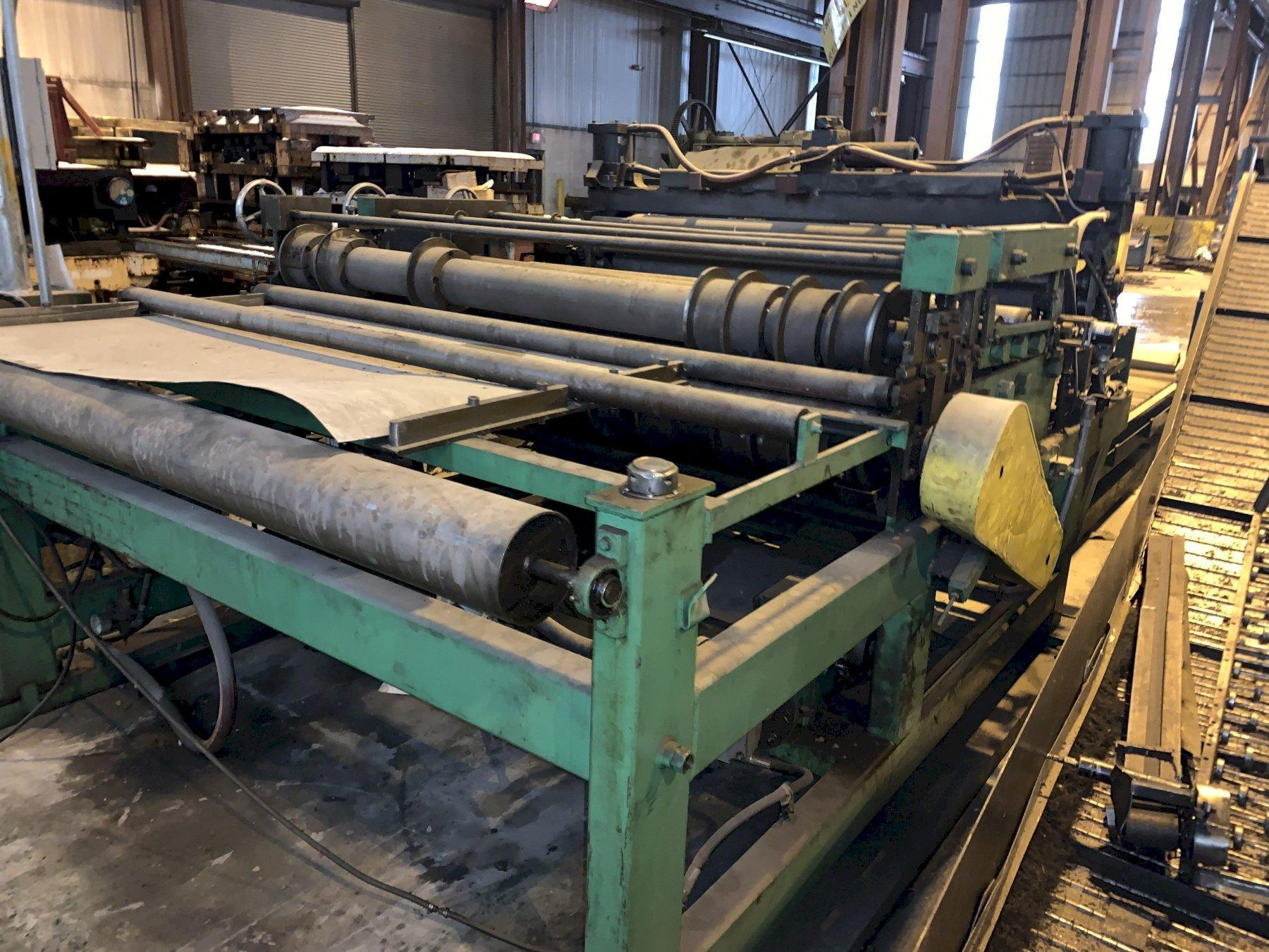 """72"""" X 18 GAUGE WELTY WAY SLEAR AUTOMATIC BLANKING MACHINE WITH UNCOILER"""