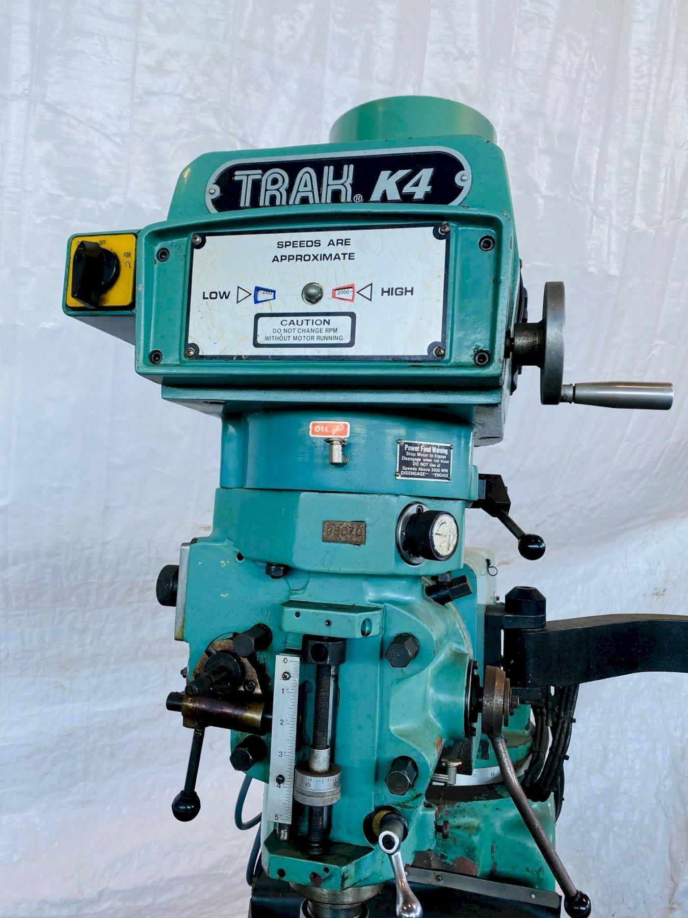 SOUTHWESTERN INDUSTRIES PROTOTRAK K4 CNC MILL. STOCK # 0952020