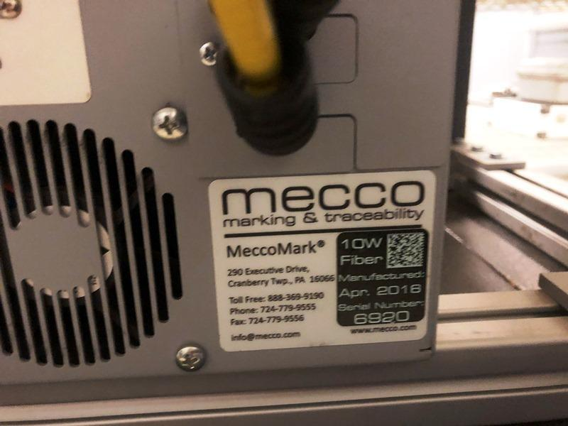 10 KW MECCO SMARTMARK MODEL 35-F010SS-BRB-BKM UNIVERSAL FIBER LASER WITH ETHERMARK AND 160MM LENS