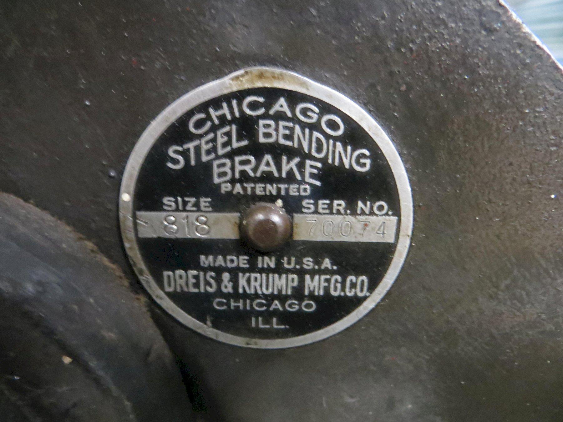 18 Ga x 8 ft Chicago Hand Brake Model 818