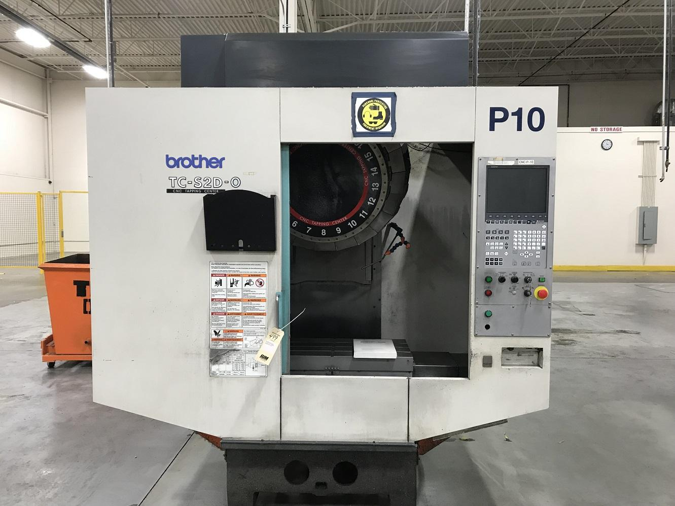 BROTHER TC S2D-O CNC DRILL AND TAPPING CENTER WITH ROTARY TABLE