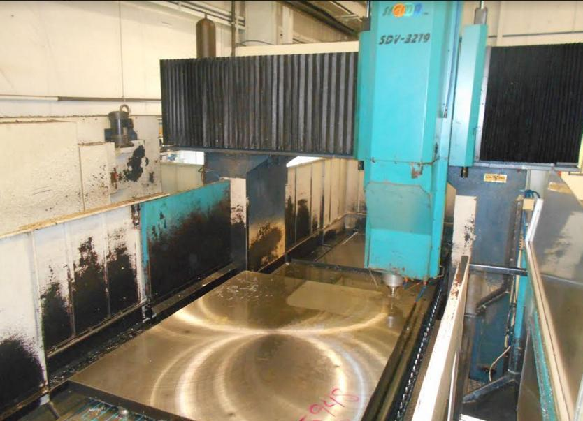 Sigma SDV3219 CNC Double Column Bridge Mill, Fanuc 18i, 125.7