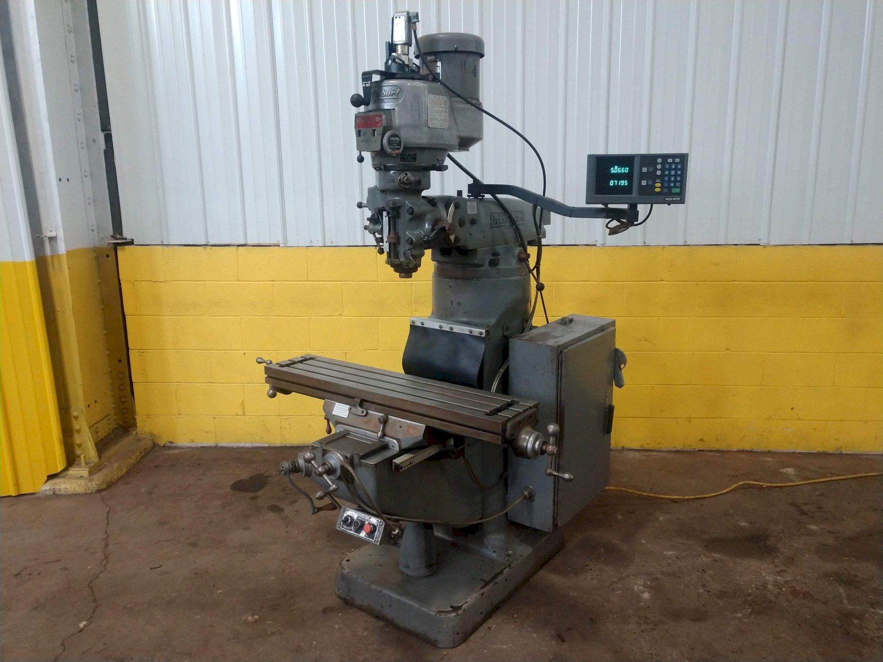 2 HP BRIDGEPORT SERIES I VERTICAL RAM TYPE MILL: STOCK 13743