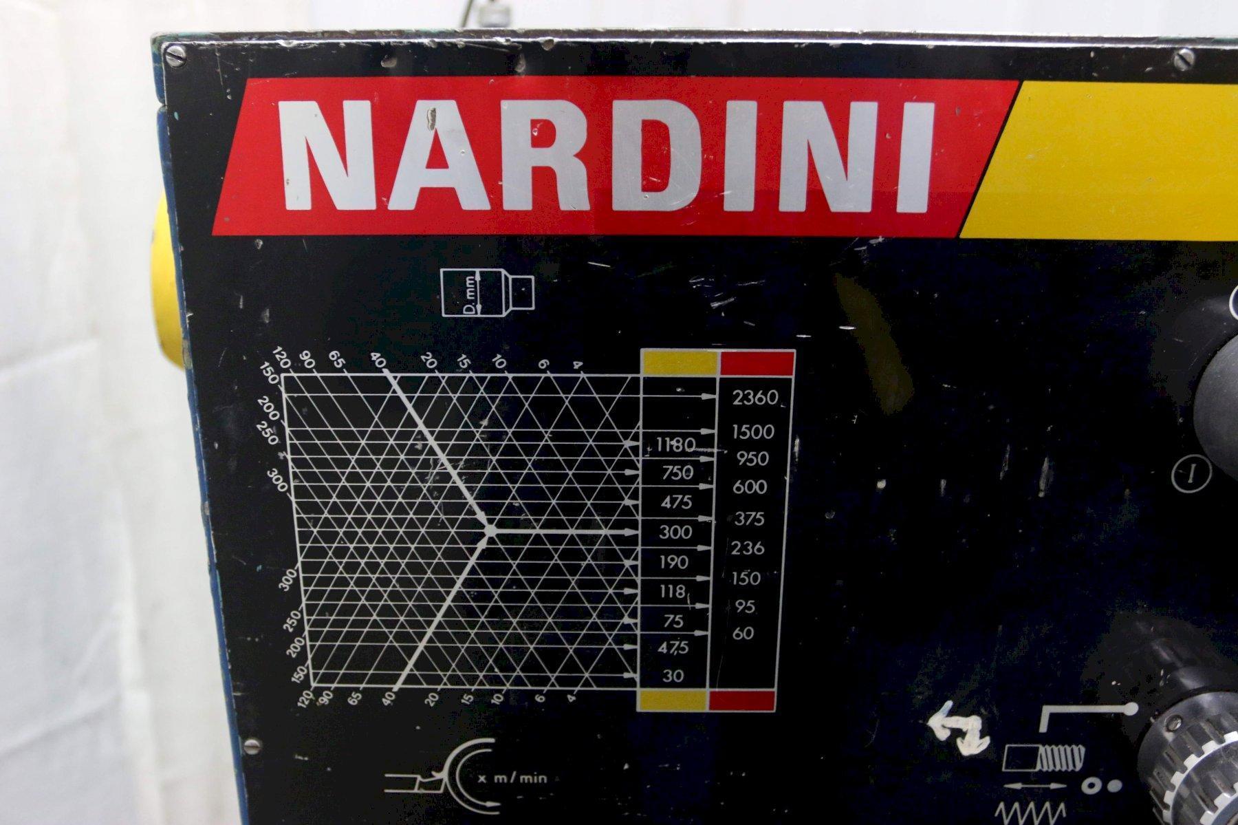 17' X 60' NARDINI GAP BED ENGINE LATHE: STOCK 71699