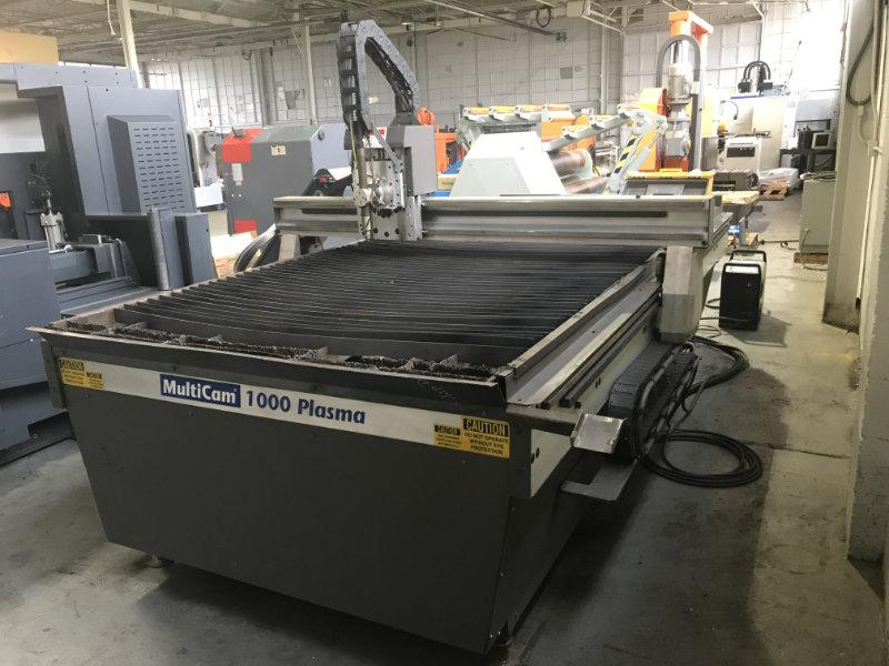 "USED MULTICAM PLASMA CUTTER, Model 1000, 5/8"", Stock No. 9969"