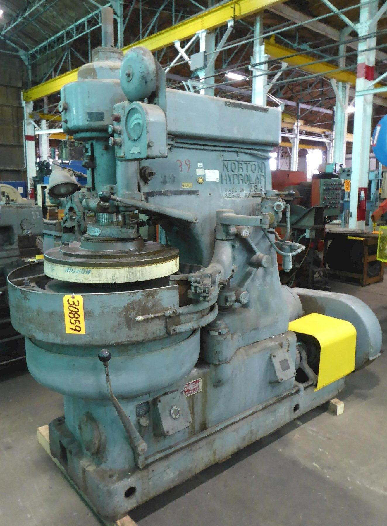 26″ Norton Hyprolap Lapping Machine, 10 HP, Coolant